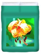 Michigan Lily Duvet Cover