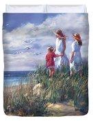 Michigan Shore Memories  Duvet Cover
