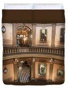 Michigan State Capitol 2 Floors Color Duvet Cover