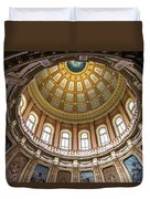 Michigan State Capitol Dome In Color  Duvet Cover