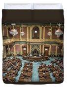 Michigan State Senate From Above  Duvet Cover