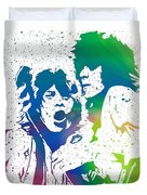 Mick Jagger And Keith Richards Duvet Cover