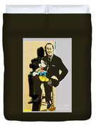 Mickey And Walt Duvet Cover