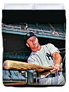 Mickey Mantle Painting Duvet Cover