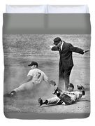 Mickey Mantle Steals Second Duvet Cover