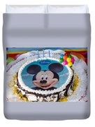 Mickey Mouse Cake Duvet Cover