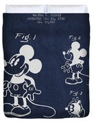 Mickey Mouse Patent Drawing From 1930 Duvet Cover by Aged Pixel
