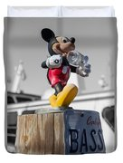 Mickey On A Post Duvet Cover