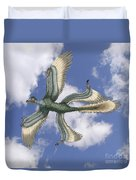Microraptor Duvet Cover by Spencer Sutton