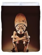 Mictlantecuhtli Lord Of Mictlan Remojadas Style, From Los Cerros, Tierra Blanca, Vera Cruz Pottery Duvet Cover