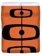 Mid Century Shapes 2 On Orange Duvet Cover