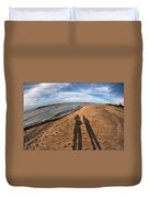 Mid Dec Day At The Beach...who Can Argue At Presque Isle State Park Series Duvet Cover