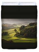 Mid Wales Autumn Landscape Duvet Cover