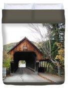 Middle Bridge Front Woodstock Vermont Duvet Cover