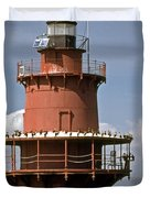 Middle Ground Lighthouse Duvet Cover