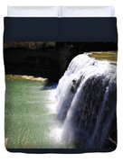 Middle Waterfalls In Letchworth State Park II Duvet Cover