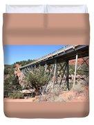 Midgley Bridge And Oak Creek Canyon  Duvet Cover