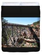 Midgley Bridge Over Oak Creek Canyon Duvet Cover