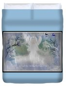 Midnight Angel Of Peace Duvet Cover