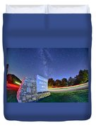 Midnight At Mount Mitchell Entrance Sign Duvet Cover