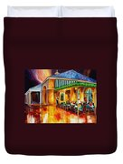 Midnight At The Cafe Du Monde Duvet Cover
