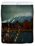 Midnight Blue In The Mountains Duvet Cover
