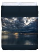 Midnight Clouds Over The Water Duvet Cover