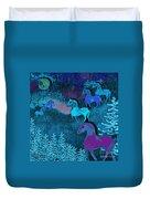 Midnight Horses Duvet Cover