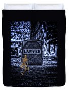 Midnight In The Graveyard With A Lawyer Duvet Cover