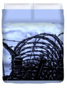 Midnight In The Prison Yard Duvet Cover