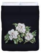 Midnight Magnolia Duvet Cover