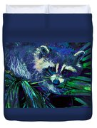 Midnight Racoon Duvet Cover
