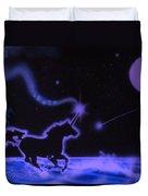 Midnight Run Duvet Cover by Kevin Caudill