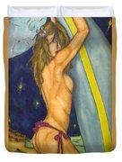 Midnight Surfer Duvet Cover