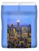 Midtown Manhattan And Empire State Building Duvet Cover