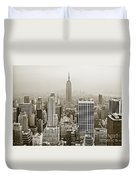 Midtown Manhattan With Empire State Building Duvet Cover