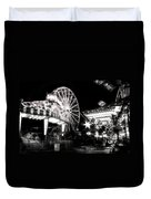Midway Attractions In Black And White Duvet Cover