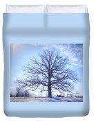 Mighty Oak In Winter Duvet Cover