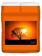 Mighty Oak Sunset Duvet Cover