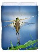 Migratory Locust Flying Duvet Cover