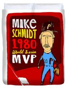 Mike Schmidt Philadelphia Phillies Duvet Cover