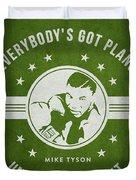 Mike Tyson - Green Duvet Cover