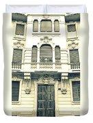 Milan Vintage Building Duvet Cover