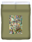 Miles Davis Watercolor Portrait.1 Duvet Cover