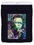 Miles Davis Watercolor Portrait.2 Duvet Cover