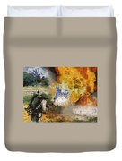 Military Flame Thrower Photo Art 02 Duvet Cover