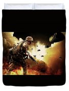 Military Our Heroes Duvet Cover