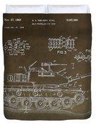 Military Tank Patent Duvet Cover