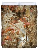 Milkweed In Autumn Duvet Cover