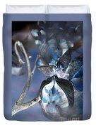 Milkweed In Blue Duvet Cover